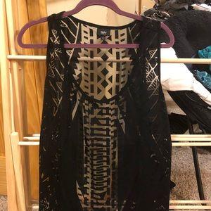 Sheer Black Sleeveless pullover